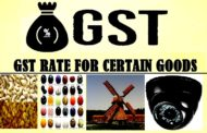 Revised GST Rate on Certain Goods as per GST Council Meeting held on 11th June, 2017