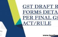 GST Draft return forms detail as per final GST Act/Rule