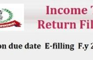 Extension due date of IT Return E-filling F.Y 2016-17