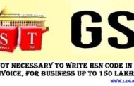 HSN Code in the GST invoice (notification)