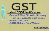 Latest CGST Notification  I Rule of E-Way Bill I No e-way bill is required to such goods