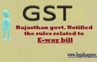Rule Related to E-Way Bill (RGST Rule 138) | Rajasthan E-Way Bill Rule |Rajasthan govern. Notified the rules related to e-way bill