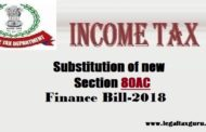 Substitution of new section 80AC budget 2018  || Deduction not to be allowed unless return furnished section 80-IA or section 80-IAB or section 80-IB or section 80-IC or section 80-ID or section 80-IE