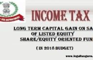 Section 112 a of Income Tax Act 2018  with Example ||Long Term Capital Gain on Sale of Listed equity share