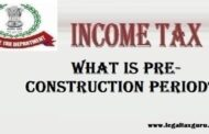 What is pre-construction period?||Home loan tax benefit