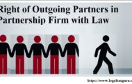 Right of Outgoing Partners in Partnership Firm with Law